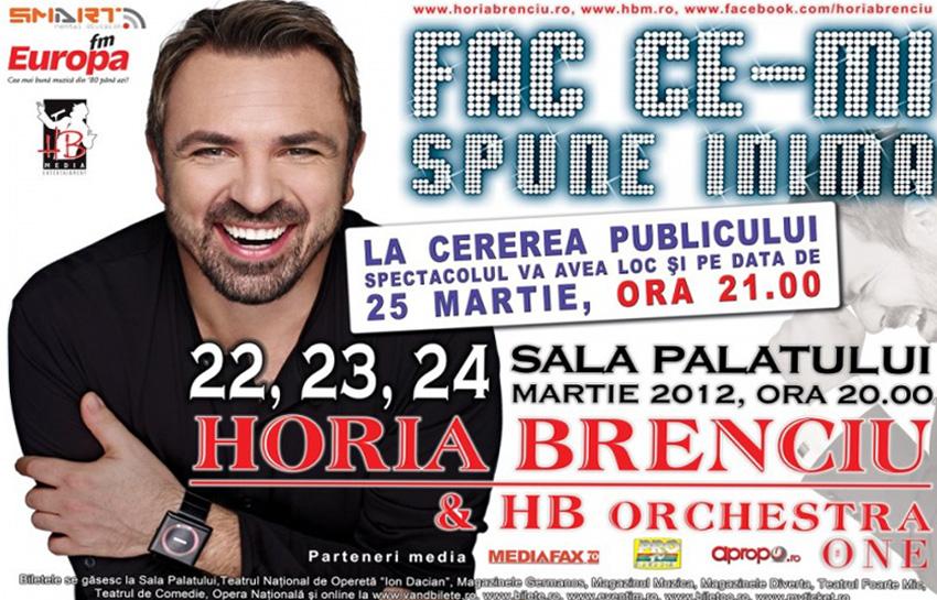 Concert Sala Palatului Horia Brenciu